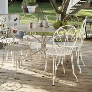 Fermob Montmartre - Table de jardin ronde en acier Ø96 x 74 cm - Comparer  avec Touslesprix.com