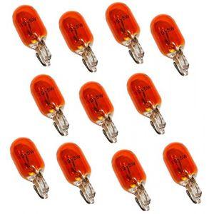 Aerzetix : Lot de 10 Ampoules WY5W T10 12V 5W Ambré Orange pour clignotants auto moto - C1724
