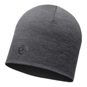 Buff Couvre-chef -- Merino Wool Thermal Hat - Solid Grey - Taille One Size