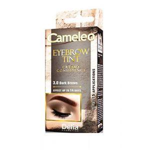 Delia Cosmetics Cameleo 3.0 dark brown eyebrown tint cream