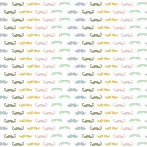 Craftine Tissu Coton enduit Christel G Design Les Moustaches de Mr Hibou