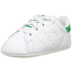 Adidas Stan Smith Crib, Chaussures Bébé Marche bébé garçon, Blanc (FTWR White/FTWR White/Green), 19 EU (9-12 Months Bébé UK)