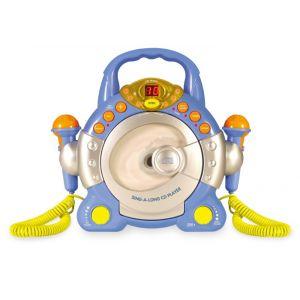 My Music Style Lecteur CD Kids avec 2 micros (Bleu)