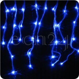 Guirlande stalactites LED effet chute de neige 8 m bleu