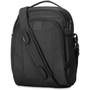 PacSafe Metrosafe LS250 sac à bandoulière en nylon anti-vol pour femmes et hommes, sac à bandoulière avec protection antivol, sac de sécurité, 12 litres, noir