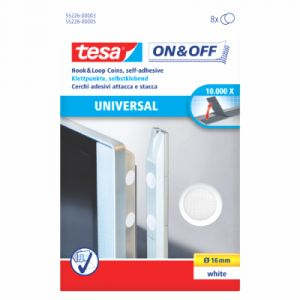 Tesa Blister 8 pastilles velcro 16 mm