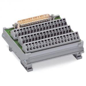 Wago 289-544 - Module interface 50 pôles avec Sub-Min-D, 50 pôles connecteur mâle, droit conditionnement 1 pc(s)