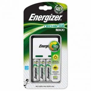Energizer Maxi Chargeur + 4 HR6 2000 mAh type AA