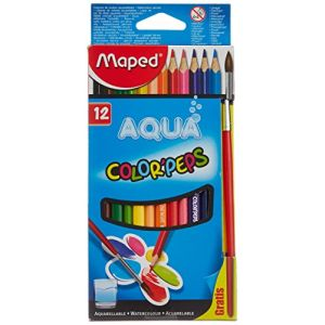 Maped 12 crayons couleur aquarelle Color'Peps Aqua
