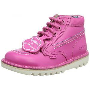 Kickers Hi Js, Bottes bébé Fille, Rose (Pink), 29 EU