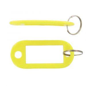 Safetool Porte-clés avec étiquette - jaune - sac de 20