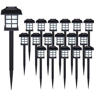Deuba Set de 18x lampes solaires LED Lumière pour jardin balon terrasse