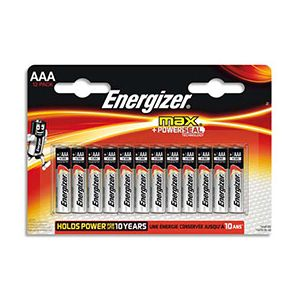 Energizer Blister de 12 piles AAA LR03