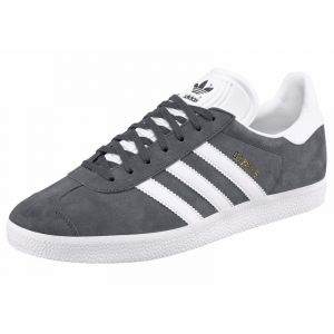 Adidas Originals Gazelle, Baskets Basses Mixte Adulte, Gris (DGH Solid Grey/White/Gold Metallic), 37 1/3 EU