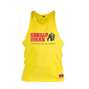 Gorilla wear Gym Shirt Homme - Débardeur Classique Stringer - S à 3XL Bodybuilding Muscle Fitness Muscle Shirt Jaune XXL