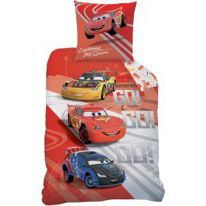 Parure de lit housse et 1 taie Cars GO (140 x 200 cm)