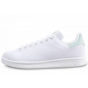 Adidas Soldes - Baskets/Tennis Stan Smith Résille Blanc Et Vert D'eau Femme