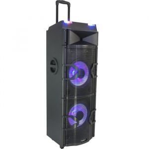 Boost 15-6045BO Système mixage DJ Sound Box 500W MAX.W / BT, RC, Double USB, FM, LED