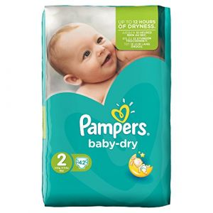 Pampers Baby Dry taille 2 (3-6 kg) - 42 couches