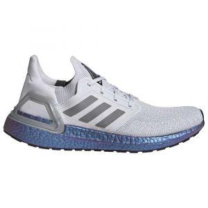 Adidas Ultraboost 20, Chaussure de Course Homme, Gris Tiret/Gris Trois F17/ Boost Bleu Violet Met, 46 EU