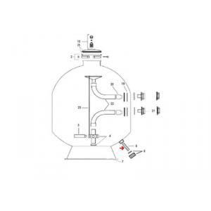 Procopi 265004 - Crépine de vidange de filtre Cobra 750