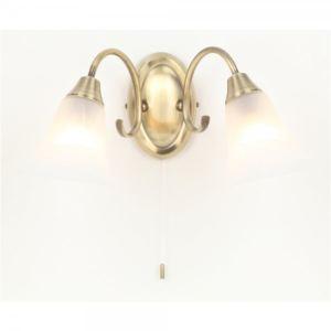 5000100823 - Applique murale Raphaël deux lampes en laiton