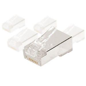Connecteur RJ45 CAT6 ftp pour cable monobrin (lot de 10)