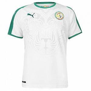 Puma T-Shirt Sénégal Home SS Replica Maillot XXL White-Pepper Green