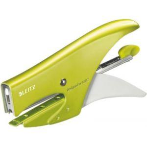 Leitz 5531-10-64 - Pince agrafeuse Wow, capacité 15 feuilles, coloris vert métallique