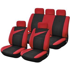 Provence Outillage Housses de Siège Voiture Auto avec Ouverture Air Bag Noir Rouge