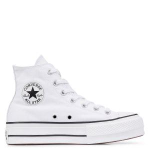 Converse Chuck Taylor CTAS Lift Hi, Sneakers Basses Femme, Blanc Black/White 102, 42 EU