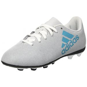Adidas X 17.4 FxG, Chaussures de Football Entrainement Mixte Enfant, Blanc (Footwear White/Energy Blue/Clear Grey), 36 EU