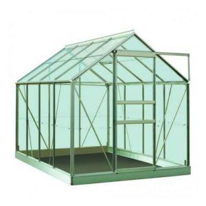 Image de ACD Serre de jardin en polycarbonate Ivy - 5m², Couleur Silver, Base Avec base, Filet ombrage oui, Descente d'eau 1 - longueur : 2m57