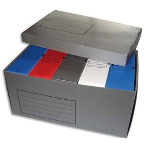 Produit neutre 5 boîtes à archives en polypropylène avec 1 conteneur