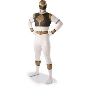 Déguisement Seconde Peau Power Rangers™ Adulte - Blanc