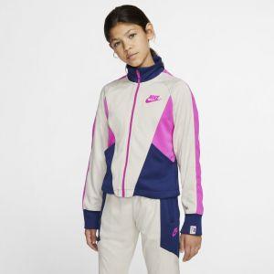 Nike Sweat Heritage Sportswear Fz Blanc - Taille 10 Ans
