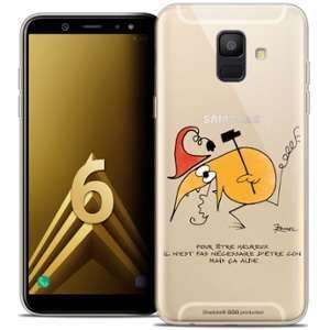 CaseInk Coque Gel Samsung Galaxy A6 2018 (5.45 ) Extra Fine Les Shadoks® - Pour Être Heureux