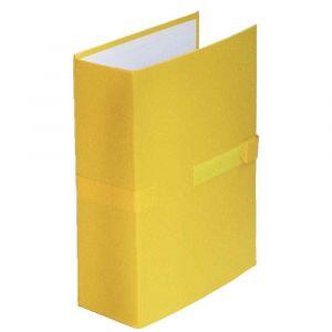 Fast 100725679 - Lot de 10 chemises à dos extensible 1 rabat, à sangle et fermeture velcro, coloris jaune