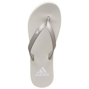 Adidas Eezay Flip Flop, Chaussures de Plage & Piscine Femme, Grigio Platinum Met./FTWR Raw White, 37 EU