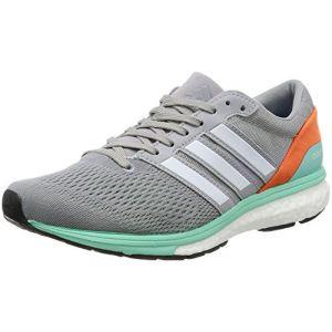 best website 679f0 3eff9 Adidas Adizero Boston 6, Chaussures de Running Entrainement Femme, Gris  (Mid Grey
