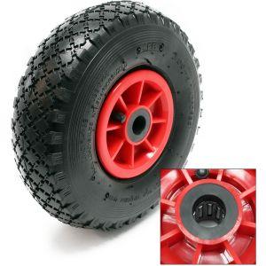 wiltec Lot 2 roue complète Brouette Diable Chariot 3.00-4 HT2046 Jante Pneu Chambre air