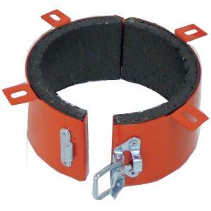 Ik sagi Collier coupe-feu rouge K-FIRE pour tube PVC diamètre 125mm