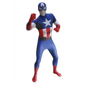 Déguisement morphsuits luxe Captain America adulte