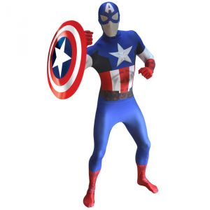 Déguisement morphsuits luxe Captain America adulte