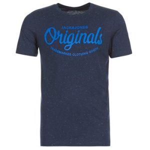 Jack & Jones Tee shirt col rond manches courtes Bleu Marine - Taille S