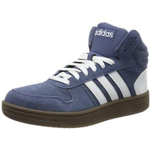 Adidas Hoops 2.0 Mid, Baskets Hautes Homme, Bleu (Tech Ink Footwear White 0), 45 1/3 EU