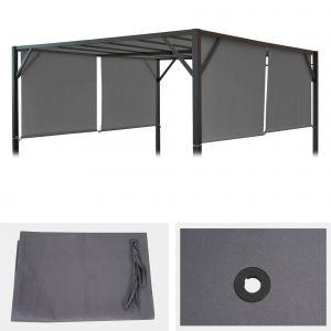 Mendler Toile De Rechange Pour Toit Pergola Pavillon Baia 3 X 4m Gris