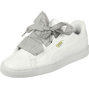 Puma Basket Heart Wn's, Sneakers Basses Femme, Blanc White White, 39 EU