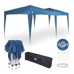Deuba Tonnelle de Jardin 3x6m • Bleu • Pop-Up imperméable • Protection UV 50+ • Sac de Transport Inclus - Tente de réception Barnum tonnelle Pliable