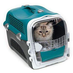 Catit Cage de transport Cabrio - Bleu turquoise - Pour chat